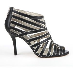 MICHAEL KORS Heels Black Silver Caged Sandals